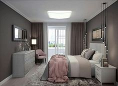 Ideas bedroom lighting apartment curtains for 2019 Fall Bedroom, Dream Bedroom, Home Decor Bedroom, Apartment Curtains, Suites, Bedroom Lighting, Luxurious Bedrooms, Bedroom Colors, New Room