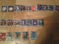 Some of my UCL cards by Panini . It's not actual.