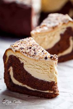 Chocolate Peanut Butter Cheesecake Cake made in the ONE pan! Creamy peanut butter cheesecake bakes on top of a fudgy chocolate cake for the ultimate dessert