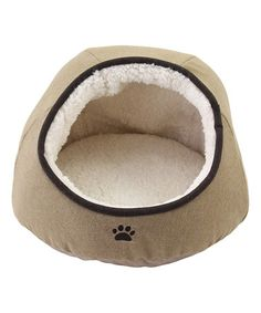 This Tan Round Dome Pet Bed is perfect! #zulilyfinds