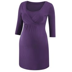Essential nightie, aubegine - This no-fuss nightie will keep you warm during the longer winter nights.