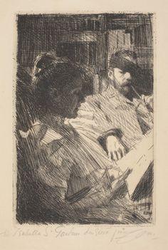 Isabella Stewart Gardner Museum : Reading 1893 Anders Zorn, Swedish, 1860-1920