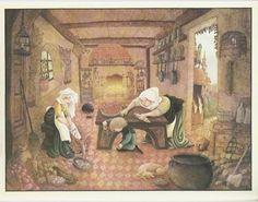 Across the Stone Bridge: Even the fire fell asleep---Thorn Rose, illustrated by Errol Le Cain