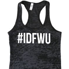 Idfwu Tank Top Idfwu Burnout Tank Work Out Tank Top Workout Tank Gym... ($16) ❤ liked on Polyvore featuring tops, black and women's clothing