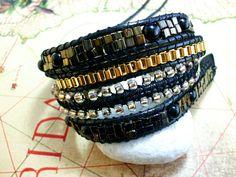 Wickelarmbänder - individualisierbares Wickelarmband 4 fach - ein Designerstück von catchinsky bei DaWanda