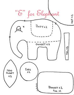 elephant template: I'll change the trunk a bit and forgo