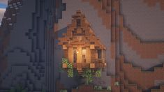 A small hillside house. : Minecraft A small hillside house. Minecraft Plans, All Minecraft, Minecraft Tutorial, Minecraft Blueprints, Cool Minecraft Houses, Minecraft Crafts, Minecraft Memes, Minecraft Buildings, Minecraft Medieval House