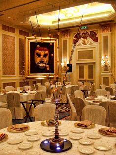 Venetian centerpiece, chair covers, masquerade mask.  See more: http://www.theig.com
