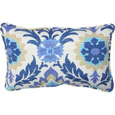Add a pop of pattern to your patio chaise or sunroom seating group with this colorful pillow, showcasing a suzani medallion motif.Pro...