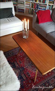 Vintagentti: Tiikkipöydän rinkulat saivat kyytiä.. Rugs, Table, Furniture, Home Decor, Farmhouse Rugs, Decoration Home, Room Decor, Tables, Home Furnishings