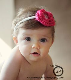 Baby Headband Crochet PATTERN With Button On Flowers  by SugarHats, $3.00