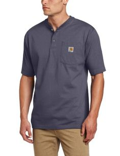 f61b4e0d30f Amazon.com  Carhartt Men s Shortsleeve Workwear Henley K84  Clothing Work  Shirts