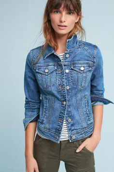 87fe6119f13dd NWOT Anthropologie Classic Size S Pilcro Farrah Denim Jacket Size S Fashion  Trends