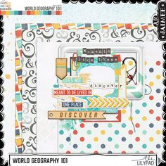 Free Mini Kit from Just Jaimee {DigiScrap Parade August 2015: World Geography 101}