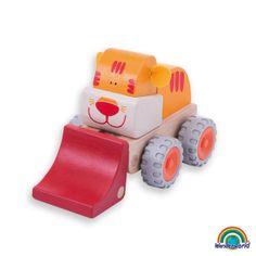 Tiger loader - ¡Preciosos animales que se convierten en un vehículo! El Tigre cargador está preparado para levantar cosas.