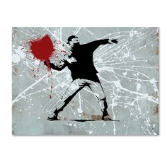 Rage by Banksy Graphic Art on Wrapped Canvas