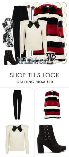 """Bundle Up"" by shoppe23 ❤ liked on Polyvore featuring Martin Grant, Forum and Alice + Olivia"