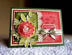 """so beautiful - flower made with Verve stamp """"Dream Big"""" stamp set and leaves from """"Bloom & Grow"""" stamp set."""
