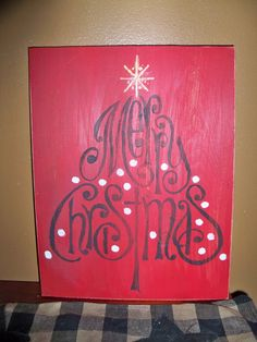 Merry Christmas Primitive Shabby Chic Sign by wrightsweepingwillow, $13.00