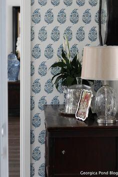 GEORGICA POND INTERIORS our home,  - blue and white, Hamptons