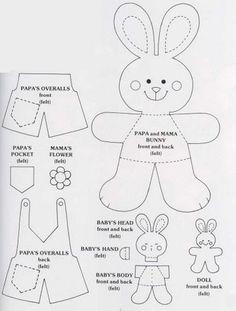 Lavoretti di Pasqua per bambini: pattern, cartamodelli di coniglietti pasquali - Maestro Alberto