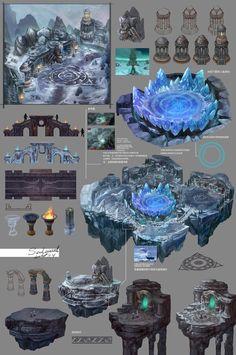 ArtStation - 《Ares dawn》Environmental design 1, Hou Yu