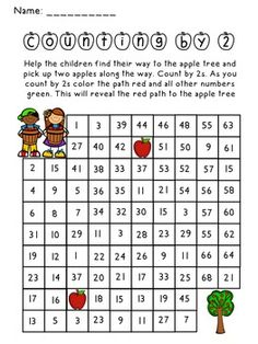 Apple Picking Counting by 2 Activity - perfect for fall or any apple themed unit.