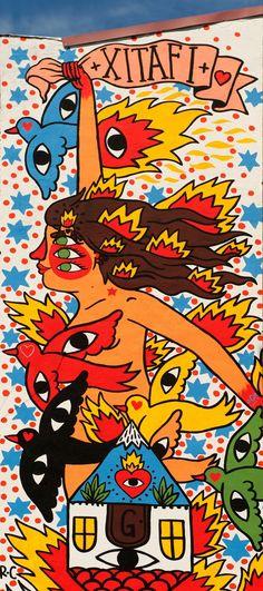 Graffitis, arte urbano: Murales en Getafe, CAVOLO, E100, SABEK, BOAMISTURA, SEKONE, IACURCI y URIGINAL.