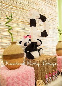 Cute decorations at a Panda Bear Birthday Party!  See more party ideas at CatchMyParty.com!