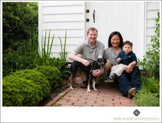 Natural light family portraits at in Old Town Alexandria, VA