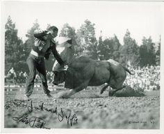 1940's Slim Pickens Rodeo Clown. Bull fighter 1947