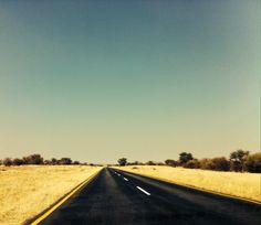 Endless roads, Botswana