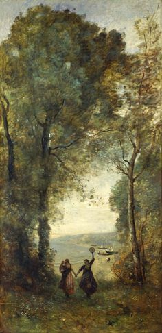 Remember the beach in Naples, from 1870 to 1872, Jean-Baptiste-Camille Corot