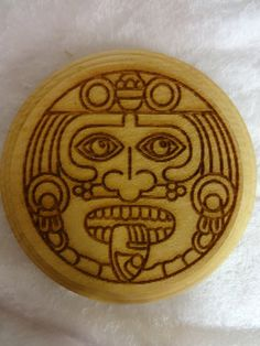Wood Coasters Kukulkan Coaster Mayan/Aztec by GratefullyCrafted