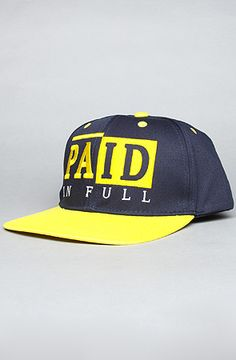 c91b1cfacde RockSmith The Paid in Full Snapback Hat in Navy Snapback hat with contrast  eyelets