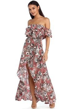 Isla Floral High Low Dress