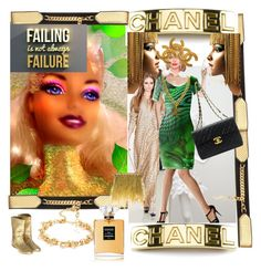 """""""Barbie goes Chanel"""" by annabelle-h-ringen-nymo ❤ liked on Polyvore featuring Yves Saint Laurent and Chanel"""