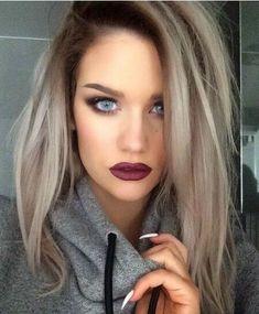 Ash blonde dark roots