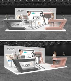 Ducray and Avene Medical Booth at City Stars Mall Exhibition Stall, Exhibition Booth Design, Interior Architecture Drawing, Coffee Shop Interior Design, Pharmacy Design, Stationary Design, Display Design, Stage Design, Commercial Design