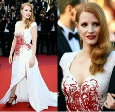 Jessica Chastain in Atelier Versace - Cannes 2017