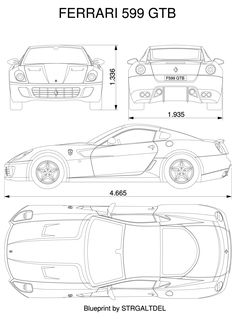 Car blueprints website amazing resource for making car cakes get ferrari 599 blueprint mehr malvernweather Images