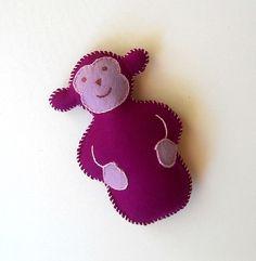 Felt stuffed monkey, example 1.