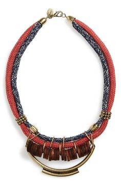 Berry Rope Statement Necklace available at #Nordstrom