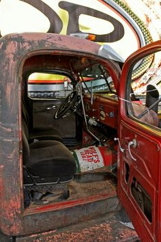 interior rat rod truck