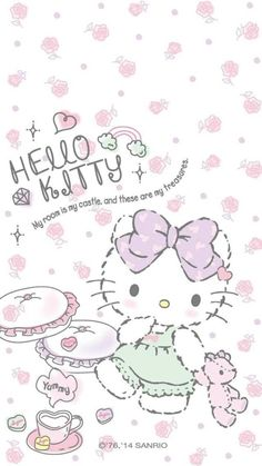iPhone壁纸 萌物 可爱 背景 Hello kitty 猫