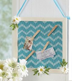 Rainy Day Craft | #DIY Memo or Message Board | Click through for full directions | Supplies available at Joann.com or you local Jo-Ann Fabric and Craft Store