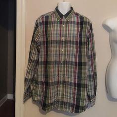 Men's button up shirt Men's plaid button up shirt Saddlebred Tops Button Down Shirts