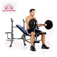 Weight Bench Set With Weights Adjustable Set Exercise Arms Press Legs Incline #Marcy #StandardWeightBench