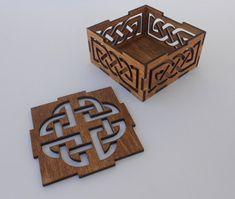 Small Celtic Box dark color