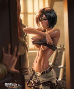 """Eren!!!"" - Attack on Titan/Mikasa Ackerman fan art... #InspireArt - #Art #LoveArt http://wp.me/p6qjkV-5A9"